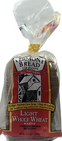 Vermont Bread All Natural Light Whole Wheat Bread