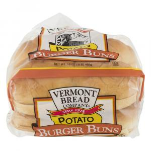 Vermont Bread All Natural Potato Hamburger Buns