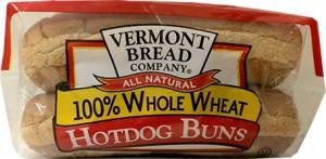 Vermont Bread 100% Whole Wheat Hotdog Rolls
