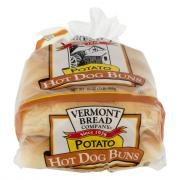 Vermont Bread All Natural Potato Hot Dog Rolls