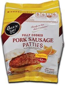 Lopez Quick N' Eat Original Pork Sausage Patties