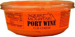Squire Mountain Original Cheddar Port Wine Tub Cheese