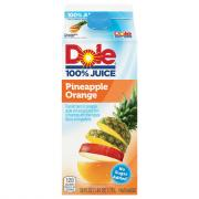 Dole No Sugar Added 100% Pineapple Orange Juice