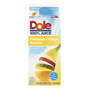 Dole No Sugar Added 100% Pineapple Orange Banana Juice