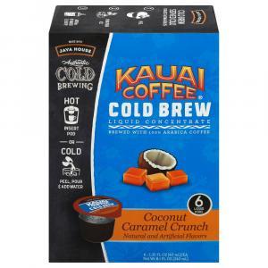 Java House Kauai Coffee Cold Brew Coconut Caramel Crunch