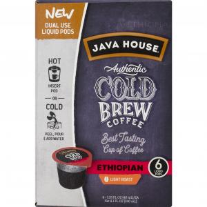 Java House Cold Brew Coffee Ethiopian Liquid Pods