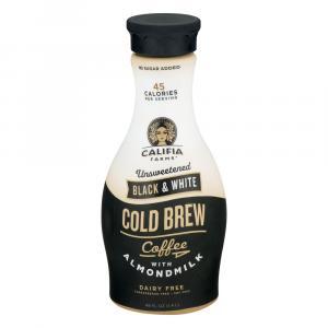 Califia Farms Black & White Cold Brew Coffee W/almondmilk