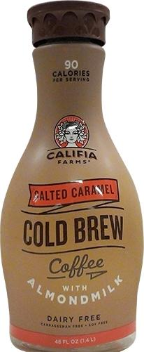 Califia Farms Salted Caramel Cold Brew Coffee W/almondmilk
