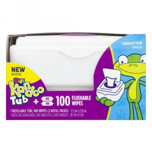 Kandoo Sensitive Flushable Wipes Tub