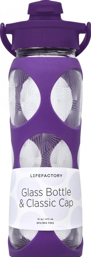 LifeFactory Glass Water Bottle Concord 22 Oz.