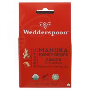Wedderspoon Organic Manuka Honey Drops Ginger