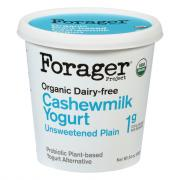 Forager Organic Cashewmilk Unsweetened Plain Yogurt