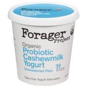 Forager Organic Cashewmilk Unsweetened Plain Yogurt