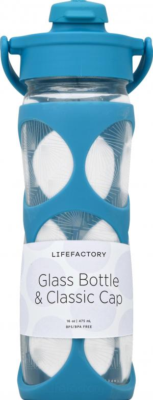 Lifefactory Glass Water Bottle Surf 16 Oz.