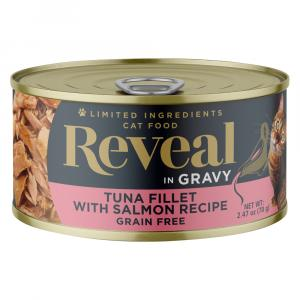 Reveal in Gravy Tuna Fillet with Salmon Canned Cat Food