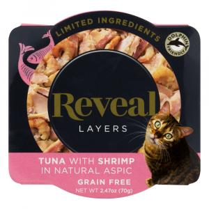 Reveal Layers Tuna with Shrimp Cat Food