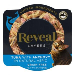 Reveal Layers Tuna with Anchovy Cat Food