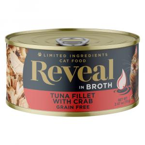 Reveal Tuna Fillet with Crab Grain Free Canned Cat Food