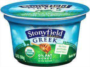 Stonyfield Organic Fat Free Honey Greek Yogurt