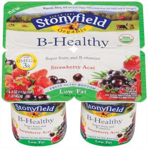 Stonyfield Organic Low Fat B-healthy Yogurt