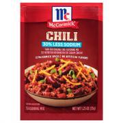 McCormick 30% Less Sodium Chili Seasoning Mix