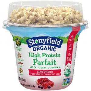 Stonyfield Organic High Protein Parfait Superfruit