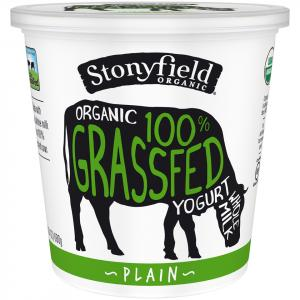 Stonyfield Organic Whole Milk 100% Grassfed Plain Yogurt