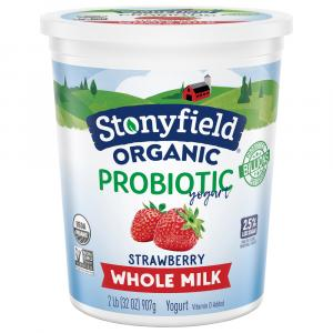 Stonyfield Organic Whole Milk Strawberry Yogurt