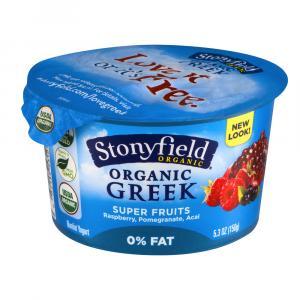 Stonyfield Organic Fat Free Greek Super Fruits Yogurt