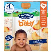 Stonyfield Organic Yo Baby Peach & Oat Whole Milk Yogurt
