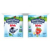Stonyfield Organic Kids Blueberry Strawberry Vanilla Yogurt