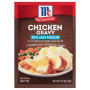 McCormick 30% Less Sodium Chicken Gravy Mix