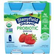 Stonyfield Organic Strawberry Smoothie