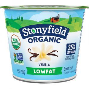 Stonyfield Organic Low Fat Vanilla Yogurt