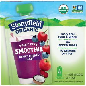 Stonyfield Organic Dairy Free Smoothie Berry Cherry Blast
