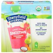 Stonyfield Organic Dairy Free Smoothie Strawbanana Smash
