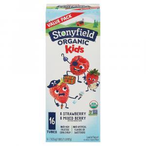 Stonyfield Organic Kids Strawberry Mixed Berry Lowfat Yogurt