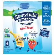 Stonyfield Organic Kids Strawberry Banana Yogurt