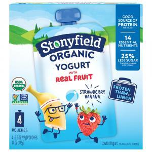 Stonyfield Organic Kids Strawberry Banana Yogurt