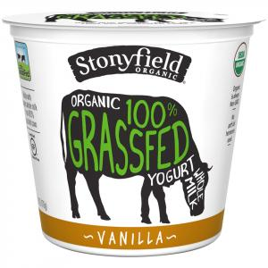 Stonyfield Organic Whole Milk Vanilla Grassfed Yogurt