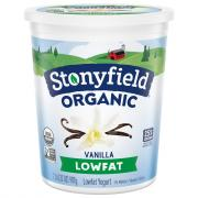 Stonyfield Organic Low Fat Vanilla Yogurt
