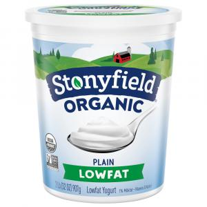 Stonyfield Organic Low Fat Plain Yogurt