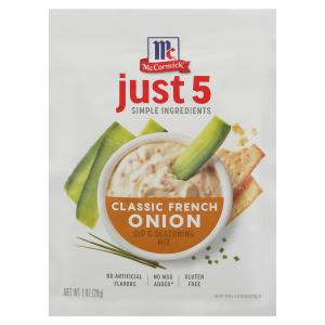 McCormick's Just 5 French Onion Dip & Seasoning Mix
