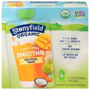 Stonyfield Organic Dairy Free Smoothie Tropical Twist