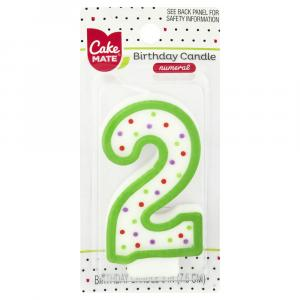 Cake Mate Numeral 2 Candle