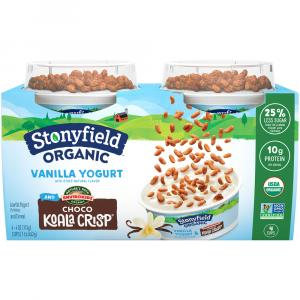 Stonyfield Organic Kids Vanilla Yogurt and Choco Koala Crisp