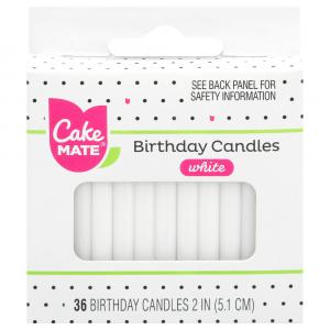 Cake Mate White Candles