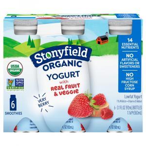 Stonyfield Organic Kids Very Berry Lowfat Smoothie