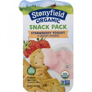 Stonyfield Organic Snack Pack Strawberry Yogurt With Graham