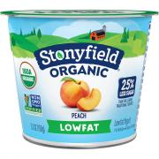 Stonyfield Organic Low Fat Peach Blends
